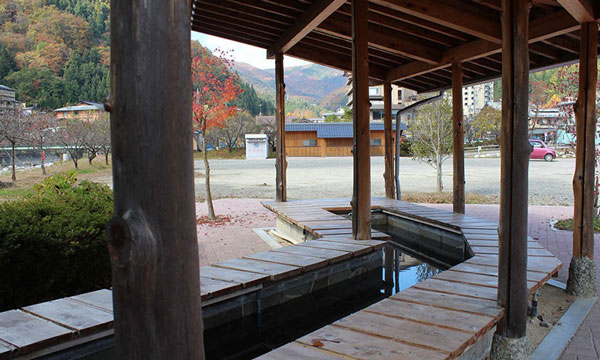 昼神温泉 24時間無料開放の足湯
